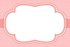 Ornate Pink Bubble Frame royalty free illustration