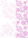 Ornate pink flower design. Banner Royalty Free Stock Photo