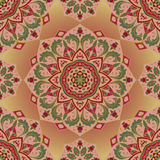 Ornate pink pattern. Vector ornate pattern with floral elements. Oriental pink ornament. Colorful template for carpet. Design for textile, shawl Royalty Free Stock Photography