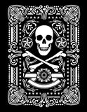 Ornate Pirate Playing card Design. An ornate pirate skull and bones design Royalty Free Stock Images