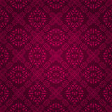 Ornate purple tile vintage wallpaper design Stock Photo