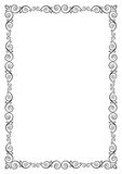 Ornate rectangular black frame for page decoration, title, card, label Royalty Free Stock Images