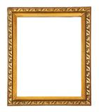 Ornate Rectangular Picture Frame. Rose Patterned brass photo frame Stock Photography