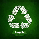 Ornate Recycle Symbol Stock Image