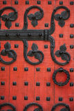 Ornate Red Door Stock Photography