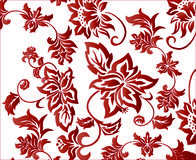 Ornate Red Flower Background Pattern Vector royalty free illustration