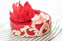 Ornate red velvet cake Royalty Free Stock Images
