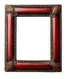 Ornate redwood antique picture frame with clipping Royalty Free Stock Image