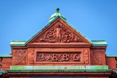 Free Ornate Relief On Top Of A Historic Building. Royalty Free Stock Image - 118487936