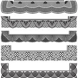 Ornate Repeating Border Set Stock Photos