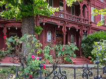 Ornate residence, California gold country. Beautiful architectural details, Sonora, California Stock Photography