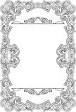 Ornate retro fine frame. Is isolated on white Royalty Free Stock Photo