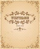 Ornate retro vintage poster Stock Images