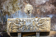 Ornate Roman Water Box Colosseum Amphitheater Imperial Rome Italy. Ornate Roman Water Basin Colosseum Rome Italy.  Built by Emperors Vespasian and Titus in 80 AD Royalty Free Stock Images