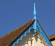 Ornate Roof Overhangs. The detail of an ornate roof overhang Stock Photo