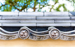 Ornate roof tiles at Himeji Castle Stock Images