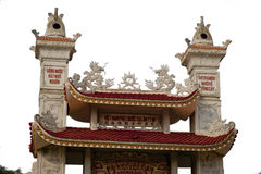 Ornate rooftop of a Chinese Buddhist temple Royalty Free Stock Photo