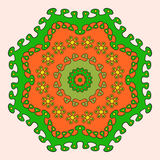 Ornate round on a light background. Round vector ornate on a light background Stock Image