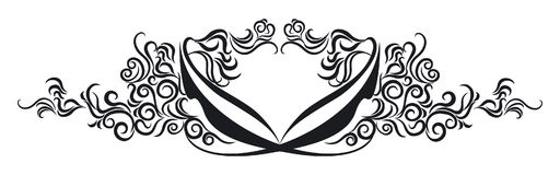 Ornate Scroll. Vectorized Ornate Scroll Design in black Stock Photo