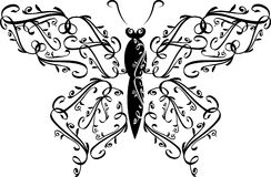 Ornate Scroll Butterfly Stock Photo