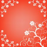 Ornate scroll floral design Stock Photos