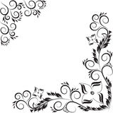 Ornate scroll floral design isolated on white Royalty Free Stock Images