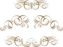 Ornate Scroll Vector Royalty Free Stock Photos