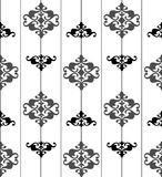 Ornate seamless black and white pattern.  Royalty Free Stock Photos