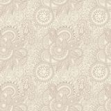 Ornate seamless flower paisley design background Royalty Free Stock Images