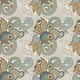 Ornate seamless flower paisley design background Stock Image
