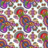 Ornate seamless flower paisley design background Royalty Free Stock Photos