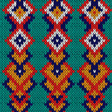 Ornate seamless knitted pattern Stock Images