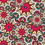 Ornate seamless pattern with arabic, aztec motifs. Geometric colorful pattern for printing Royalty Free Stock Image