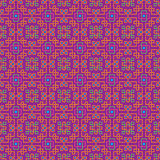 Ornate seamless pattern, interlaced lines. Bright, saturated colors. The swatch is included in vector file. Arabic style Stock Images