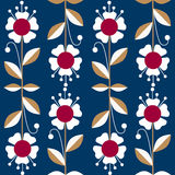 Ornate seamless pattern with the leaves and flowers Stock Photography
