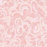 Ornate seamless pattern on pink background Stock Photography