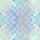 Waves of ornamental mosaic tile patterns. Ornate seamless texture background. Waves of ornamental mosaic tile patterns Royalty Free Stock Photography