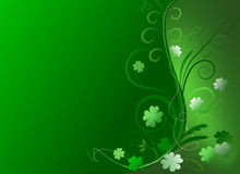 Ornate Shamrock Background Royalty Free Stock Photography