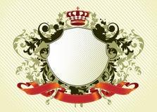 Ornate shield Stock Photo