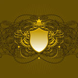 Ornate shield background Royalty Free Stock Images