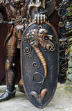 Ornate shield of a bronze statue Royalty Free Stock Photos