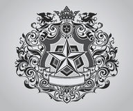 Ornate Shield Crest. Design Royalty Free Stock Photo