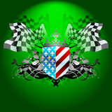 Ornate shield with flags Royalty Free Stock Photography