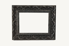 Ornate Silver Frame Isolate Royalty Free Stock Images