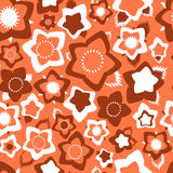 Ornate simple beauty flower seamless pattern. Abstract floral original background. Royalty Free Stock Photo