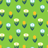 Ornate simple beauty flower seamless pattern. Abstract floral original background. Royalty Free Stock Image