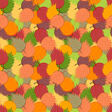 Ornate simple beauty leaves seamless pattern. Abstract original background. Royalty Free Stock Image