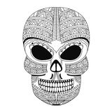 The ornate skull style zentangl, doodle Royalty Free Stock Images