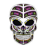The ornate skull style zentangl, doodle Royalty Free Stock Photography