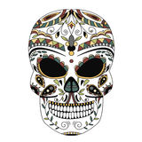 The ornate skull style zentangl, doodle Royalty Free Stock Image